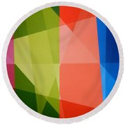 Abstract Transparency Round Beach Towel