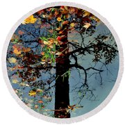 Abstract Tree Round Beach Towel