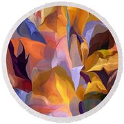 Abstract Vignettes Round Beach Towel