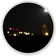 Abstract Water Tower Town Round Beach Towel