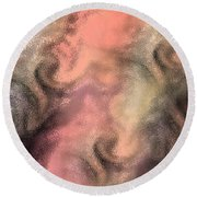 Abstract Watercolor And Ink Digital Painting Round Beach Towel