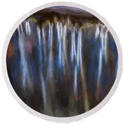 Abstract Waterfalls Childs National Park Painted  Round Beach Towel