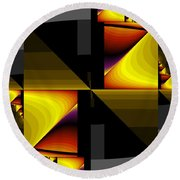 Abstract0412 Round Beach Towel