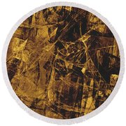 Abstraction 0252 Marucii Round Beach Towel