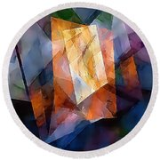 Abstraction 0257 Marucii Round Beach Towel