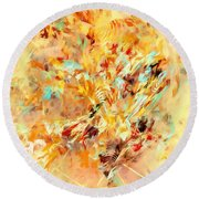 Abstraction 0263 Marucii Round Beach Towel