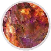 Abstraction  0273 Marucii Round Beach Towel