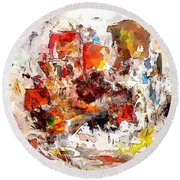 Abstraction 0365 Marucii Round Beach Towel