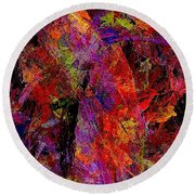Abstraction 0383 - Marucii Round Beach Towel