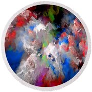 Abstraction 0392 Marucii Round Beach Towel