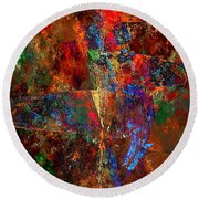 Abstraction 0393 Marucii Round Beach Towel