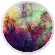Abstraction 042914 Round Beach Towel