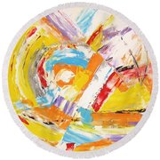 Abstraction 0473 Marucii Round Beach Towel