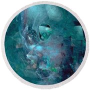 Abstraction 0493 Marucii Round Beach Towel