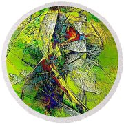 Abstraction 0527 Marucii Round Beach Towel