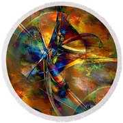 Abstraction 0528 - Marucii Round Beach Towel