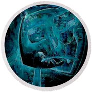 Abstraction 0534 Marucii Round Beach Towel