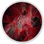 Abstraction 0536 Marucii Round Beach Towel