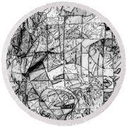 Abstraction 0538 - Marucii Round Beach Towel