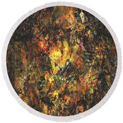 Abstraction 0556 Marucii Round Beach Towel