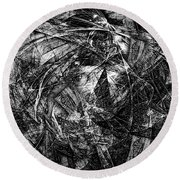 Abstraction 0560 - Marucii Round Beach Towel