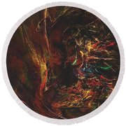 Abstraction 0564 Marucii Round Beach Towel