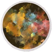 Abstraction 0566 Marucii Round Beach Towel