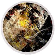 Abstraction 0576 - Marucii Round Beach Towel