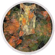 Abstraction 0585 Marucii Round Beach Towel