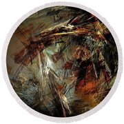 Abstraction 0599 - Marucii Round Beach Towel