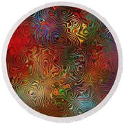 Abstraction 0612 Marucii Round Beach Towel