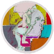Abstraction 113 Round Beach Towel