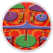 Abstraction 177 Round Beach Towel by Patrick J Murphy
