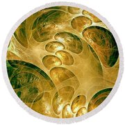 Abstraction 192-03-13 Marucii Round Beach Towel
