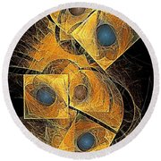Abstraction 207-03-13  Marucii Round Beach Towel