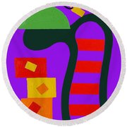 Abstraction 230 Round Beach Towel