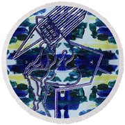 Abstraction 231 Round Beach Towel