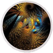 Abstraction 252-05-13 Marucii  Round Beach Towel