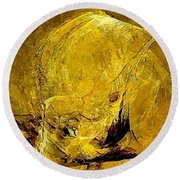 Abstraction 327 - Marucii Round Beach Towel