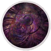 Abstraction 426-08-13 Marucii Round Beach Towel