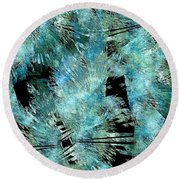 Abstraction 432-08-13 Marucii Round Beach Towel
