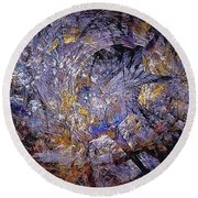 Abstraction 472-09-13 Marucii Round Beach Towel