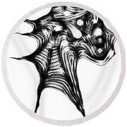 Abstraction 492-10-13 Maruci Round Beach Towel