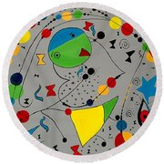 Abstraction 575 - Marucii Round Beach Towel