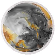 Abstraction 590-11-13 Marucii Round Beach Towel