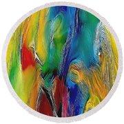 Abstraction 591-11-13 Marucii Round Beach Towel