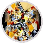 Abstraction 596-11-13 Marucii Round Beach Towel