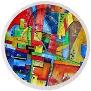Abstraction 599-14 - Marucii Round Beach Towel