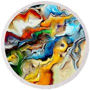 Abstraction 600-11-13 Marucii Round Beach Towel