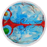 Abstraction 61 Round Beach Towel